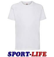 Детская футболка под печать и принт FRUIT OF THE LOOM VALUEWEIGHT T Белая
