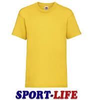 Детская футболка под печать и принт FRUIT OF THE LOOM VALUEWEIGHT T Солнечно-желтая