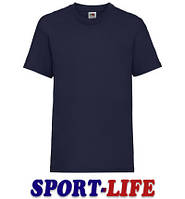Детская футболка опт и розница FRUIT OF THE LOOM VALUEWEIGHT T Темно-синяя