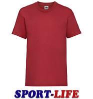 Детская футболка опт и розница FRUIT OF THE LOOM VALUEWEIGHT T Красная