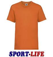 Детская футболка для коллективов оптом FRUIT OF THE LOOM VALUEWEIGHT T Оранжевая