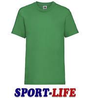 Детская футболка для коллективов оптом FRUIT OF THE LOOM VALUEWEIGHT T Ярко-зеленая