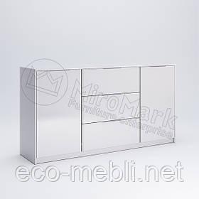 Комод 2Д3Ш 1.6 м. у вітальню Рома Білий Глянець Міромарк