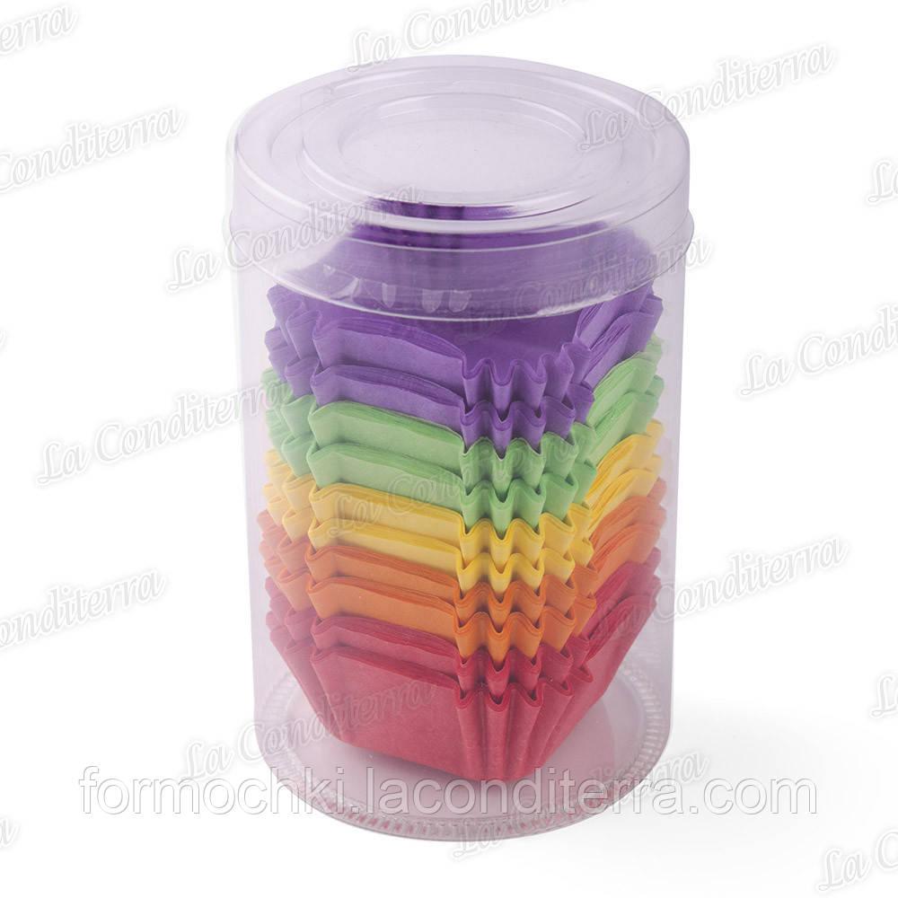 Паперові форми для кексів, цукерок і тістечок До-40-Тубус, Мікс-1 (150 шт)