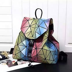Стильные городские рюкзаки для девушек из экокожи Бао Бао радужный алмаз, Bao Bao Issey Miyake 3006