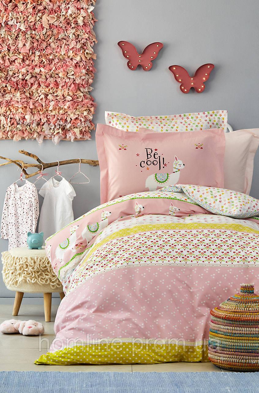 Детское постельное белье Karaca Home Arlina pembe 2019-2 розовый ранфорс подростковое