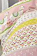 Детское постельное белье Karaca Home Arlina pembe 2019-2 розовый ранфорс подростковое, фото 2