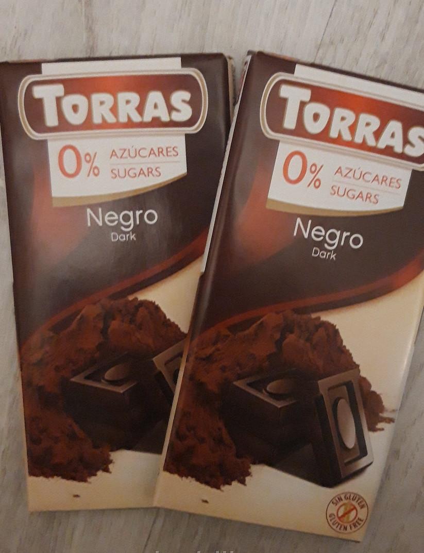 Шоколад черный без сахара Torras с дробленным какао Испания 75 г