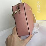 Сумка, клатч Майкл Корс, натуральная кожа, crossbody, цвет розовый, фото 2