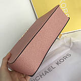 Сумка, клатч Майкл Корс, натуральная кожа, crossbody, цвет розовый, фото 5
