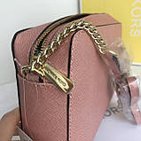 Сумка, клатч Майкл Корс, натуральная кожа, crossbody, цвет розовый, фото 6