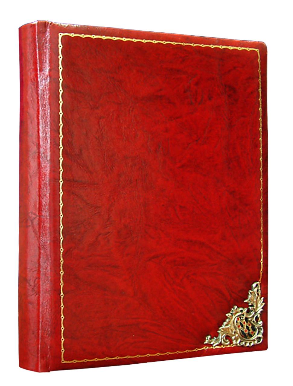 """Ежедневник А5 формата в кожаном переплете """"Ажур"""". Цвет красный"""