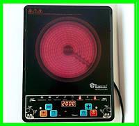 Инфракрасная электроплита DOMOTEC 2000 Вт с таймером