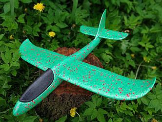 Самолет планер из полипропилена, 48 см Зеленый