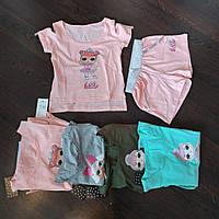 Костюм шорты и футболка для девочек 5-10