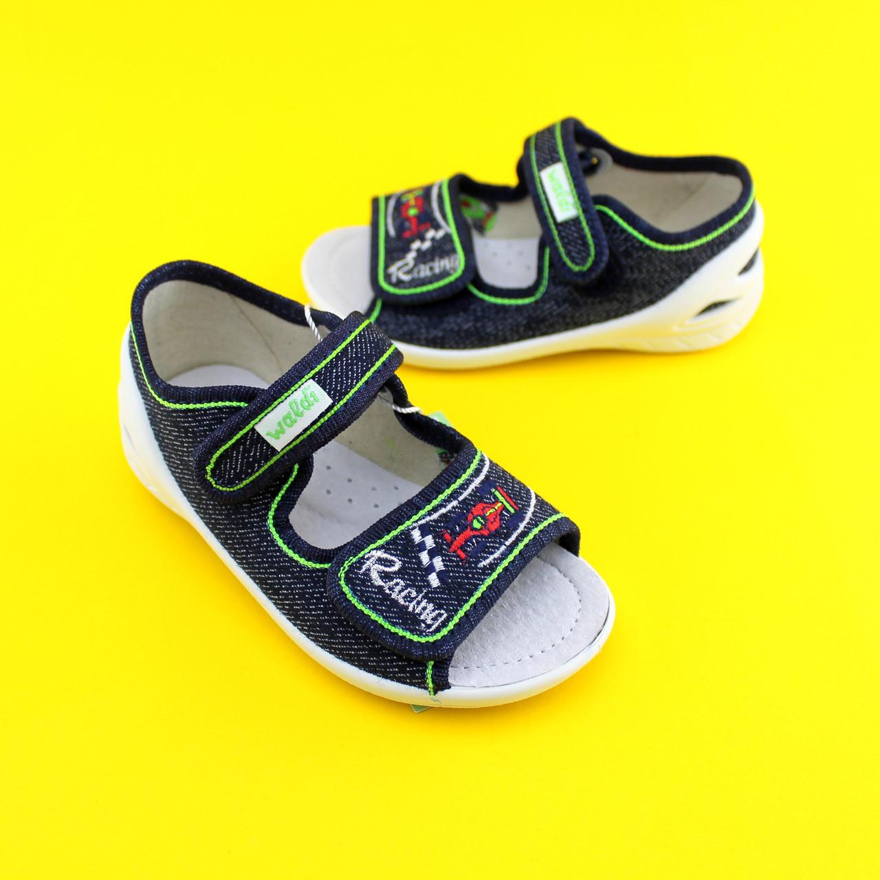 4326e2f7 Купить Текстильнsе босоножки на мальчика польскую летнюю обувь тм 3F ...
