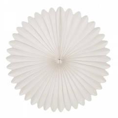 Веер-розетка бумажный из тишью 20 см белый