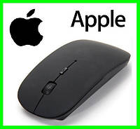 Беспроводная USB Мышка Дизайн APPLE Тонкая Для Компьютеров и Ноутбуков (BLACK)