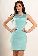 """Классическое голубое платье """"Кашибо""""  с 44 по 52 размер"""