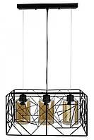 """Люстра потолочная подвесная в стиле """"LOFT"""" (лофт) (30х24х48 см.) Черный матовый YR-12120/3"""