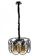 """Люстра потолочная подвесная в стиле """"LOFT"""" (лофт) (40х40х40 см.) Черный матовый YR-12036/4"""