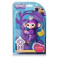 Интерактивная обезьянка Fingerlings Happy Monkey Фиолетовая