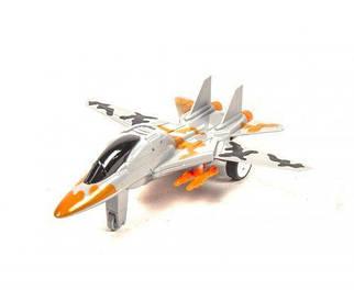 Самолет-истребитель, инерционный (серый) 44012