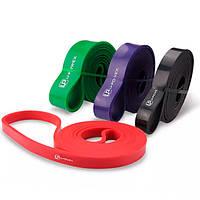 Резиновые петли для фитнеса U-Powex Набор из 4 петель + чехол