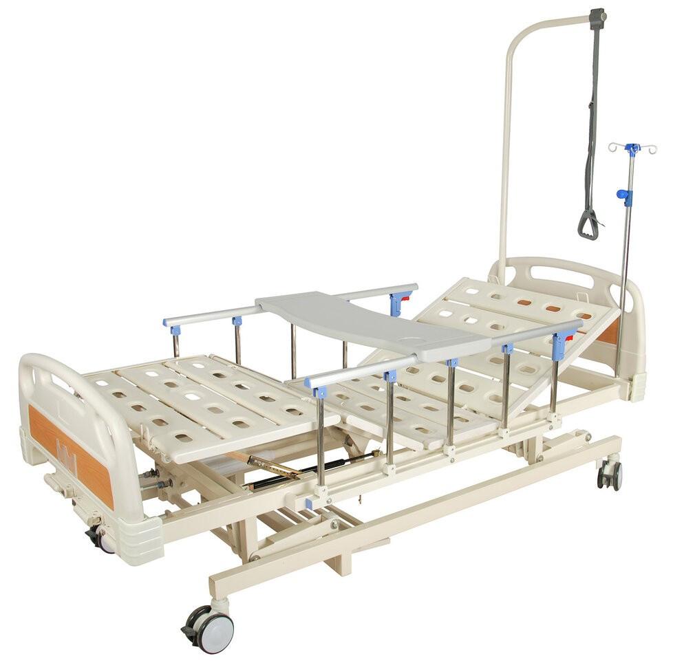 Кровать механическая E-31 (3 функции, 4 секции) с ростоматом и полкой