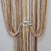 Шторы нити с люрексом радуга 17