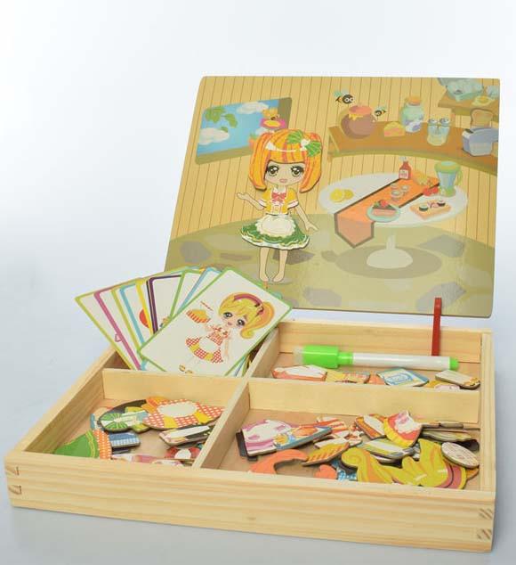 Деревянный игровой набор для малышей (три вида)