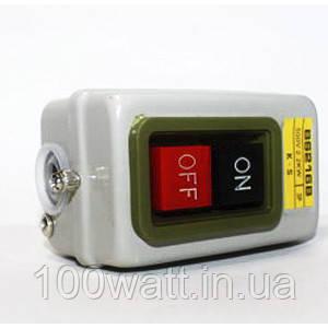 Кнопка наружная в корпусе метал пуск-стоп на ПНВ 2,2 кВт для бетономешалок ST365
