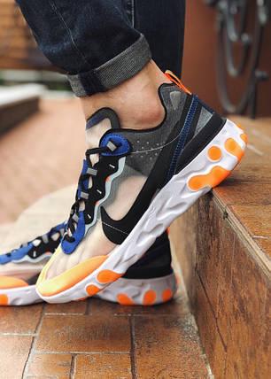 "Кроссовки Nike Undercover React Element ""Синие\Оранжевые"", фото 2"