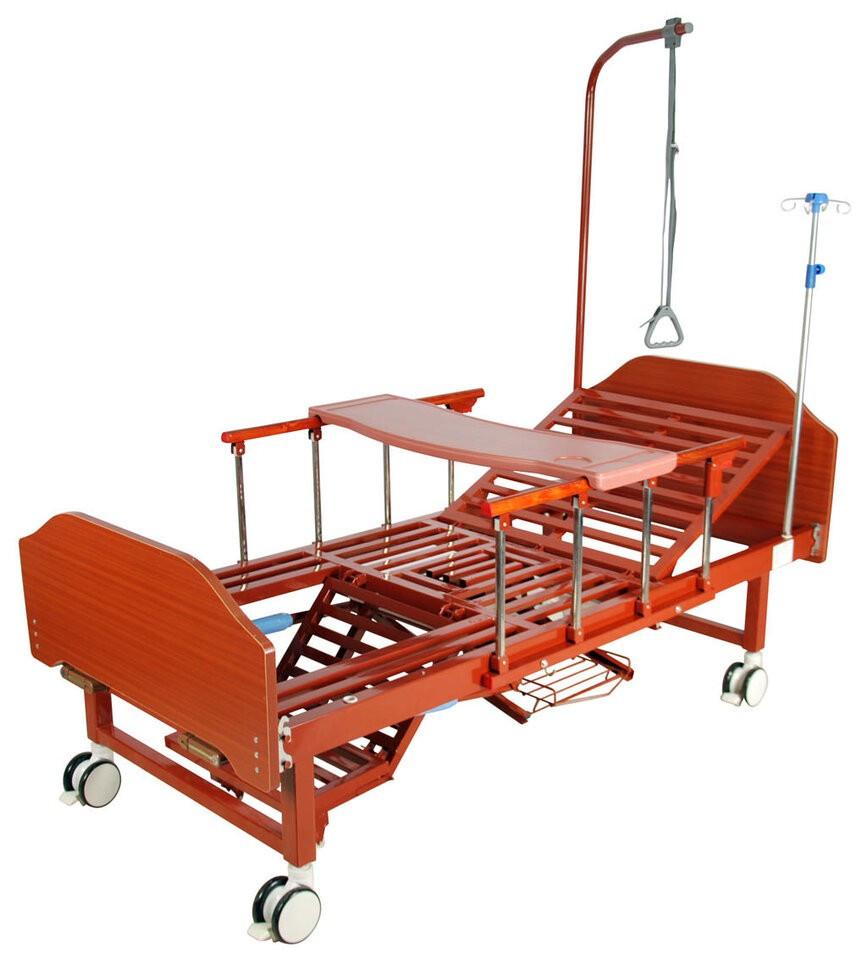 Кровать механическая YG-6 (4 функции, 6 секций) с туалетным устройством и функцией «кардиокресло»