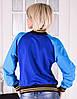 """Женская кофта бомбер  синего цвета """"Спорт клуб"""" размеры 40-44, фото 3"""