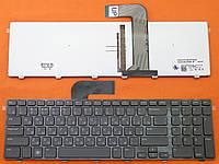 Клавиатура для ноутбуков Dell Inspiron N7110, 17R Series черная с черной рамкой с подсветкой UA/RU/US
