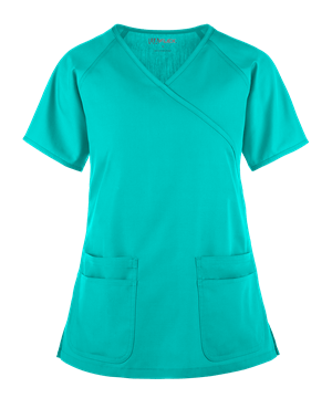 Медицинская блуза унисекс /UA Flex Raglan Mock Wrap Scrub Top