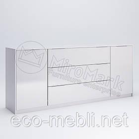 Комод 2Д3Ш 2.0 м. у вітальню Рома Білий Глянець Міромарк