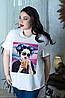 Женская футболка с печатным рисунком, с 48- 98 размер