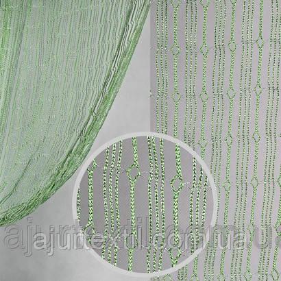 Шторы нити с люрексом  11, фото 2