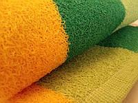 Полотенце лицевое махровое зеленое с желтым 70*40