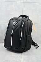 Повседневный мужской рюкзак городской с карманами черный, фото 1