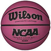 Баскетбольный мяч Wilson NCAA PINK BBALL размер 6 композитная кожа розовый (WTB0731XBPINK)