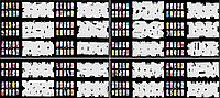 Набор трафаретов 20 шт. для nail art №6, фото 1