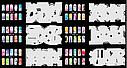 Набор трафаретов 20 шт. для nail art №6, фото 4