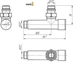 """Кран угловой удлиненный, G1/2""""( комплект 2шт) MARIO, фото 3"""