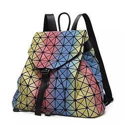 Стильные рюкзаки 20 л в школу для девушки  Бао Бао радужный, Bao Bao Issey Miyake, молодёжный стиль 3007