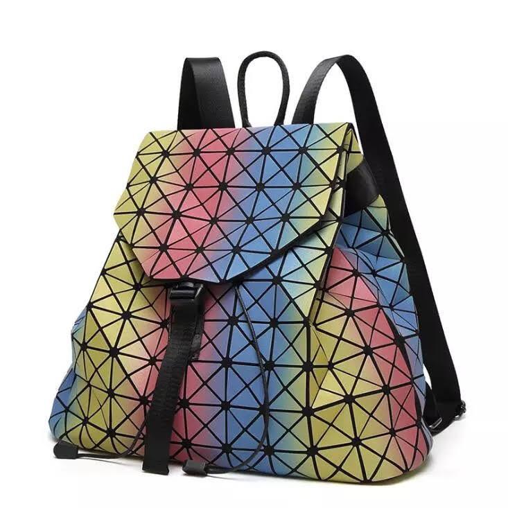 Женский рюкзак Бао Бао радужный, Bao Bao Issey Miyake, школьный, молодёжный стиль