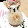 Пухнастий брелок з мордочкою собачки, фото 2