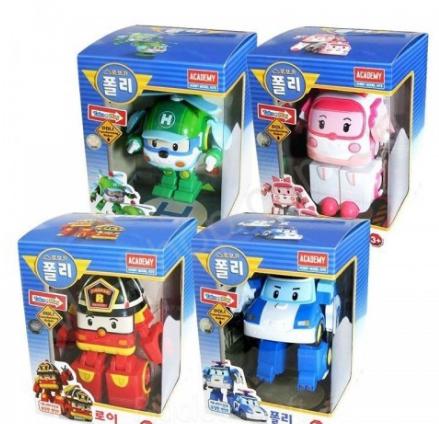 Трансформеры Robocar Poli - Поли Робокар набор из 4 героев